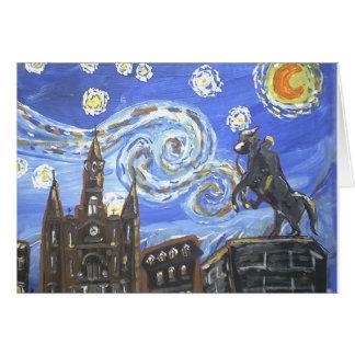 Het Franse Kwart van de sterrige Nacht Briefkaarten 0