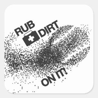 Het Franse Overhemd van Mugshot van de Buldog Vierkante Sticker