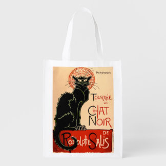 Het Franse Poster van de Kat van de Jugendstil Herbruikbare Boodschappentas