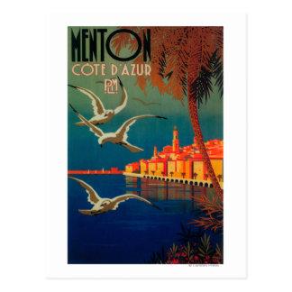 Het Franse Poster van de Reis Riviera # 1 Briefkaart