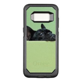 Het Franse Puppy die van de Buldog over Muur turen OtterBox Commuter Samsung Galaxy S8 Hoesje