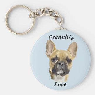 Het Franse Puppy van de Buldog Sleutelhanger
