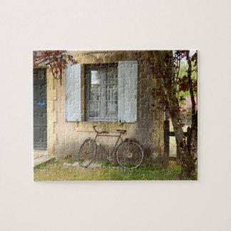 Het Franse Raadsel van de Foto van het Huis met de Puzzel
