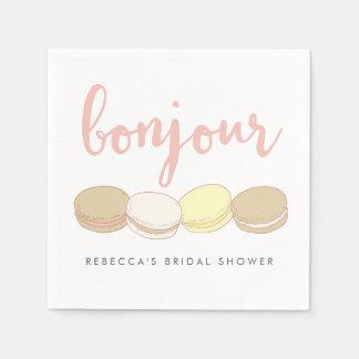 Het Franse Vrijgezellenfeest Macarons van Bonjour Wegwerp Servet