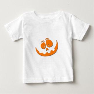 Het Freaky Gesneden Gezicht van de Pompoen - de Baby T Shirts
