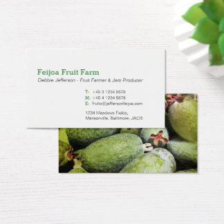 Het fruitlandbouwer van Feijoa/van de jammaker Visitekaartjes