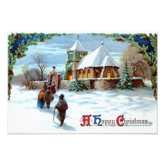 Het gaan naar de Altijdgroene Kerstboom van de Foto Afdrukken