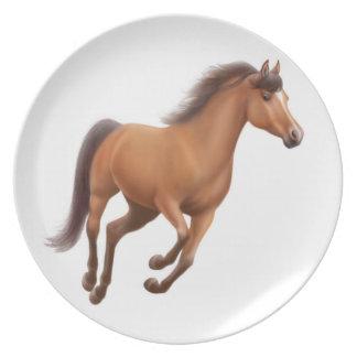 Het galopperende Volbloed- Bord van het Paard