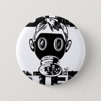 Het Gasmasker van Dubstep Ronde Button 5,7 Cm