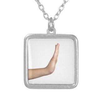 Het gebaar van de hand - Einde Zilver Vergulden Ketting