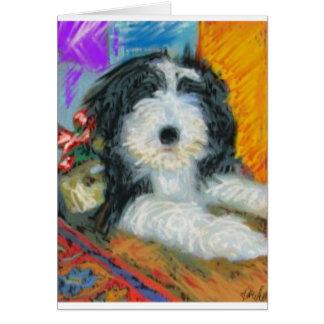 Het gebaarde Puppy van de Collie Kaart