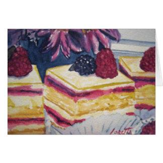 Het Gebakje van het dessert Kaart