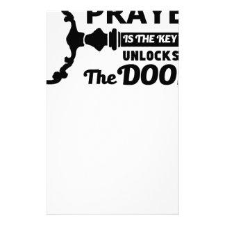 Het gebed is de sleutel aan alle deuren briefpapier