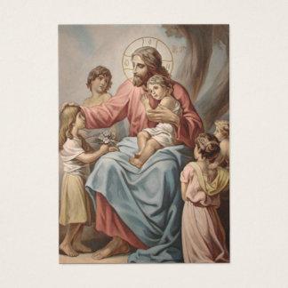 Het Gebed Jesus w/Children van grootouders Visitekaartjes