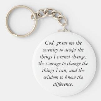 Het Gebed Keychain van de sereniteit, eenvoudig & Basic Ronde Button Sleutelhanger