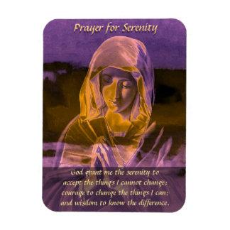 Het Gebed van de sereniteit in Paars Vinyl Magneet
