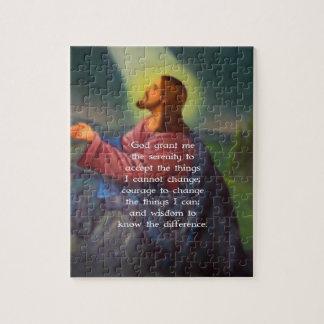 Het gebed van de Sereniteit met het Schilderen van Legpuzzel