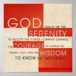 Het Gebed van de sereniteit Posters