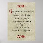 Het Gebed van de sereniteit/Vintage Stijl Plaat