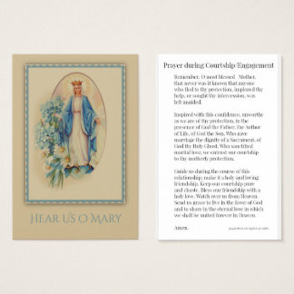 Het Gebed van de vrijage/van het Verloving aan Visitekaartjes