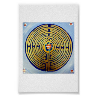 Het Gebed van het labyrint Poster