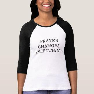 Het gebed verandert alles Christelijk Citaat T Shirt