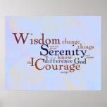 Het Gebed Wordle van de sereniteit op samenvatting Print