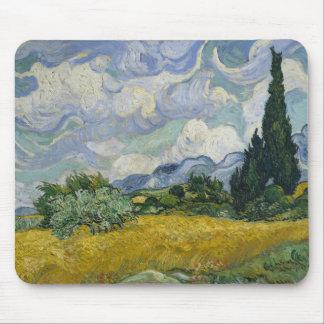 Het Gebied van de tarwe met Cipressen door Vincent Muismat