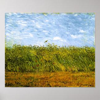 Het Gebied van de tarwe met een Fine Art. van de Poster