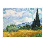 Het Gebied van de tarwe met het Canvas van Cipress Canvas Prints