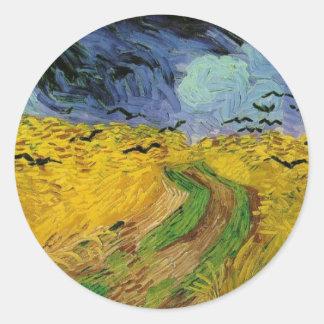 Het Gebied van de tarwe met Kraaien - Vincent van Ronde Sticker