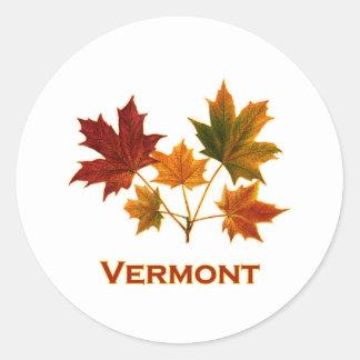 Het Gebladerte van de Herfst van Vermont - de Ronde Sticker