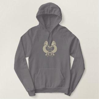 Het Geborduurde Overhemd van het Hart van Geborduurde Sweater Hoodie