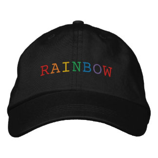 Het Geborduurde Pet van de regenboog Word