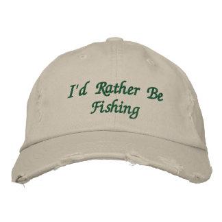 Het geborduurde Pet van de visser