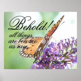 Het geboren opnieuw Poster van de Vlinder