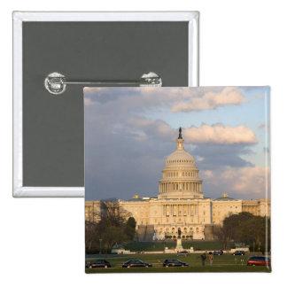 Het gebouw van het Capitool van Verenigde Staten b Vierkante Button 5,1 Cm