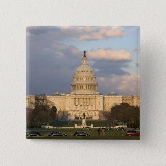 Het gebouw van het Capitool van Verenigde Staten Vierkante Button 5,1 Cm