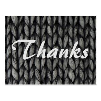 Het gebreide ontwerp van het bedankt briefkaart