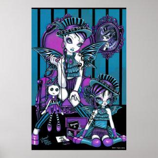 """Het """"gecharmeerde"""" Gotische Poster van de Fee van"""