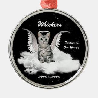 Het Gedenkteken van het Huisdier van de Zilverkleurig Rond Ornament