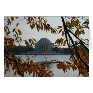 Het Gedenkteken van Jefferson in de herfst Kaart