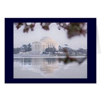 Het Gedenkteken van Jefferson in Getijbekken wordt Kaart