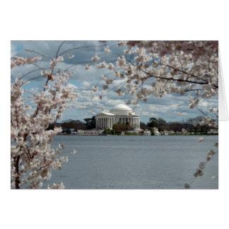 Het Gedenkteken van Jefferson met de Bloesems van Kaart