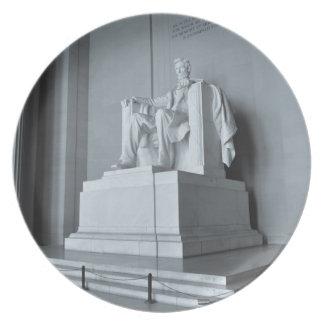 Het Gedenkteken van Lincoln in Washington DC Borden