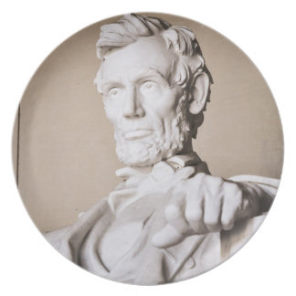 Het Gedenkteken van Lincoln in Washington DC Diner Bord