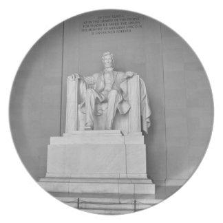 Het Gedenkteken van Lincoln in Washington DC Diner Borden