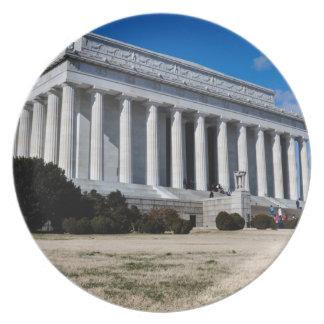 Het Gedenkteken van Lincoln in Washington DC Melamine+bord