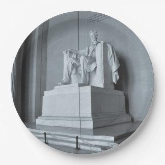 Het Gedenkteken van Lincoln in Washington DC Papieren Bordje