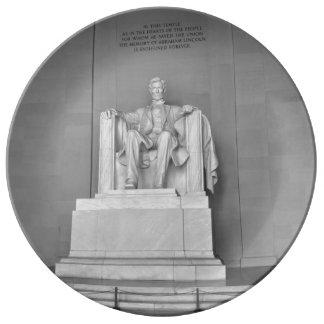 Het Gedenkteken van Lincoln in Washington DC Porselein Bord